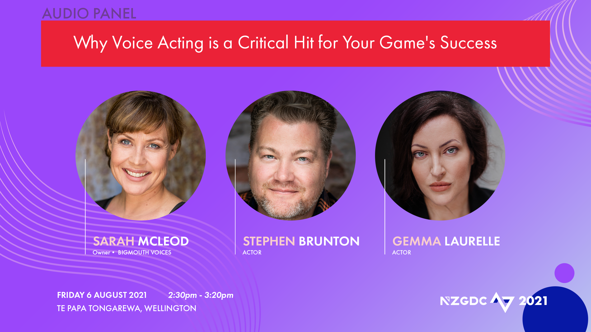 Panel: Why Voice Acting is a Critical Hit for your Game Success
